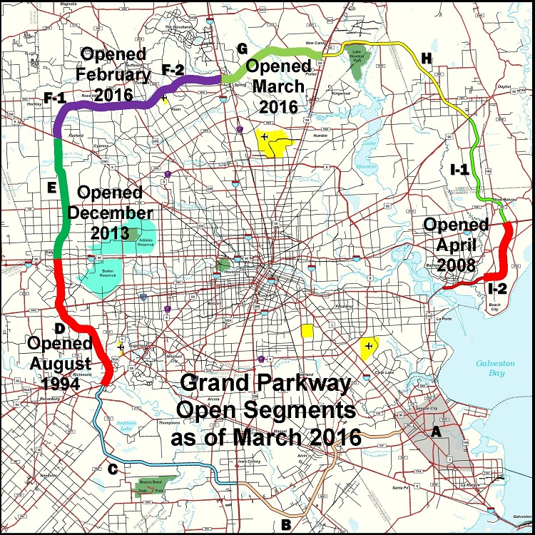 Grand Parkway Map Easier Access Thanks to The Grand Parkway   KW Woodlands Grand Parkway Map